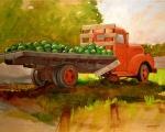 Watermelon Truck 12x16